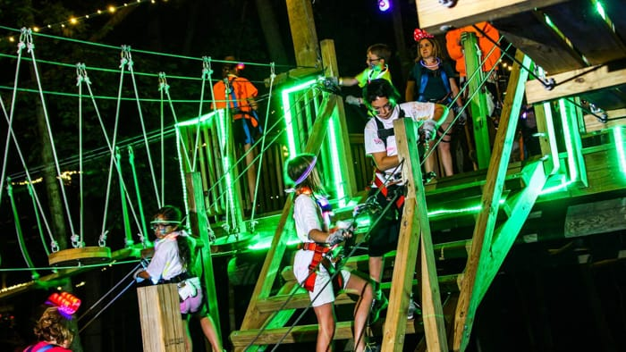 Adventure Park with glowing lights